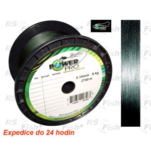 Power Pro® Šňůra vláčecí Power Pro Moss Green 0,15 mm