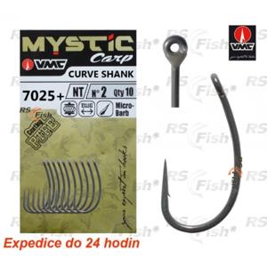 VMC® Háček VMC Mystic Carp Curve Shank 7025+ 8