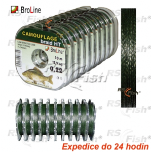 Broline Šňůra návazcová Carp Dyneema Camouflage 0,140 mm