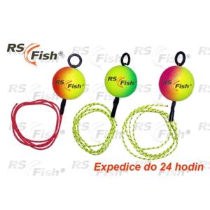 RS Fish® Čihátko RS Fish - odpadávací s gumičkou 25 mm - fluo zelená