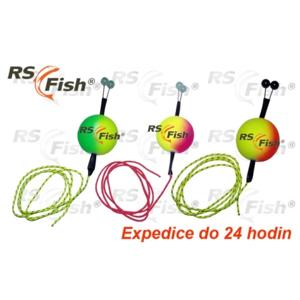 RS Fish® Čihátko RS Fish - odpadávací s korálky 38 mm - fluo zelená