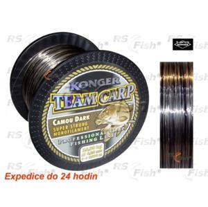 Konger® Vlasec Konger Team Carp Camo Dark 1000 m 0,35 mm