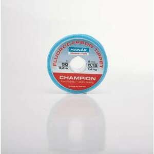 HANÁK Competition Fluorocarbon 50 m - 0,10 - 0,22mm průměr: 0,12mm/1,4kg