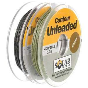 Solar Těžká šąňůra khaki - Unleaded Spliceable Leader Typ: Těžká šnůra Unleaded Spliceable Leader Khaki 80 lb/10m, 1 ks