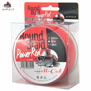Hell-Cat Splétaná šąňůra Round Braid Power Red 0,80mm, 100kg, 200m