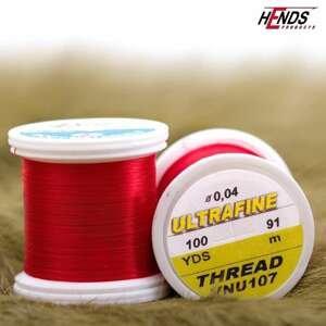 Hends vázací nit Ultra fine 0,04mm - červená