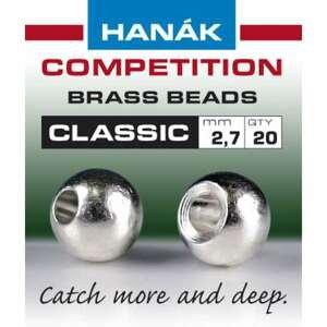 Hanák klasické mosazné hlavičky Stříbrné 2mm