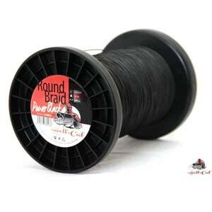Hell-Cat Splétaná šąňůra Round Braid Power Black 1000m průměr / nosnost: 0,70mm/85kg