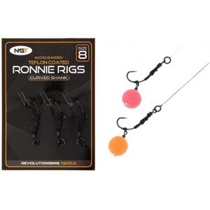 NGT Montáž Ronnie Rig & Teflon Hooks vel.6 3ks