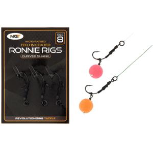 NGT Montáž Ronnie Rig & Teflon Hooks vel.8 3ks