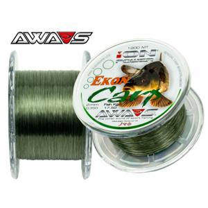 Awa-Shima rybářský vlasec ION POWER EKON CARP 1200m nosnost: 11,95Kg, průměr: 0,30mm