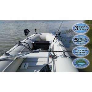 Člun s úchyty FASTEN - Sportex Shelf lamelová podlaha 290F šedý, 2 x lavička
