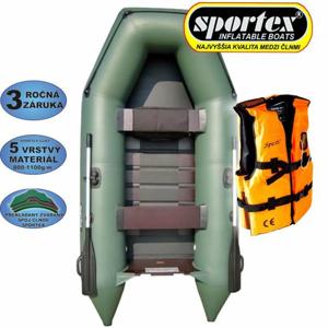 Sportex Člun Shelf + záchranná vesta Varianta: 290 zelený