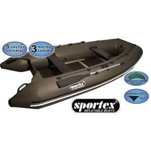 Sportex člun Shelf pevná podlaha se středovým kýlem 390cm zelený