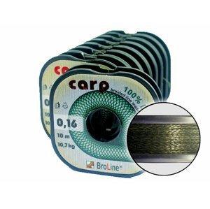 Carp Dyneema - oválná/tm.zelená/10 m/0,12 mm/8,1 kg