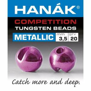Hanák tungstenové hlavičky Metallic růžová 20ks průměr: 2,5mm