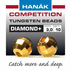 Hanák tungstenové hlavičky DIAMOND zlaté 20ks průměr: 4mm