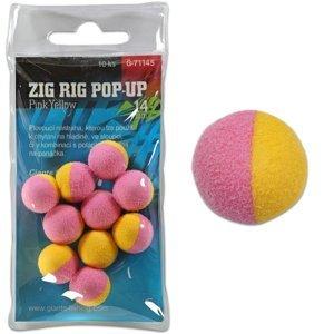 Giants Fishing Pěnové plovoucí boilie Zig Rig Pop-Up pink-yellow 14mm,10ks
