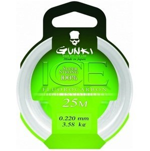 Gunki Fluorocarbone Ice 25M Průměr: 0,41mm