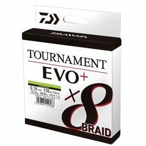 Daiwa Šňůra Tournament 8 Braid EVO+ Chartreuse 0.10mm 135m