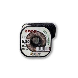 Carp Dyneema - kulatá/tm.hnědá/10 m/0,075 mm/3,2 kg