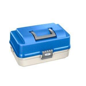 Plastica Panaro rybářský kufřík 149/ 3-patrový bílo-modrý