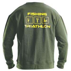 DOC Mikina TRIATHLON zelená - mikina na ryby i na běžné nošení  XL