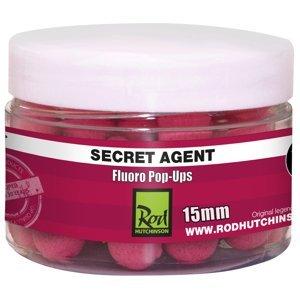 Rod Hutchinson Fluoro Pop-up  15mm aroma: Secret Agent with Liver Liquid