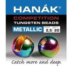 Hanák tungstenové hlavičky Metallic duhové 20ks průměr: 3mm