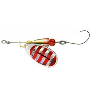 Cormoran třpytka bullet single hook silver red strips - 1 - 3 g-velikost - 1 - 3 g