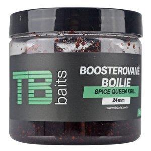 Tb baits boosterované boilie spice queen krill 120 g - 24 mm