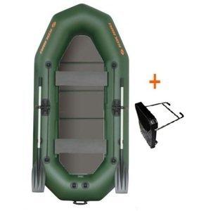 Kolibri člun k-250 tp profi zelený pevná podlaha + držák motoru