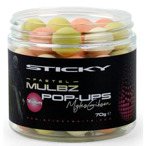 Sticky baits plovoucí boilies mulbz pastel pop-ups 70 g - 12 mm