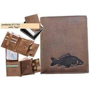 Kožená rybářská peněženka 17 - kapr
