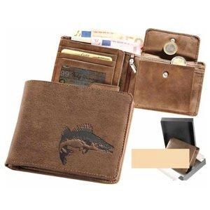 Kožená rybářská peněženka 40 - candát