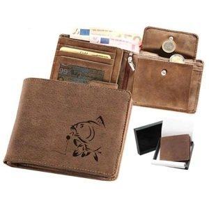 Kožená rybářská peněženka 40 - kapr a boilies