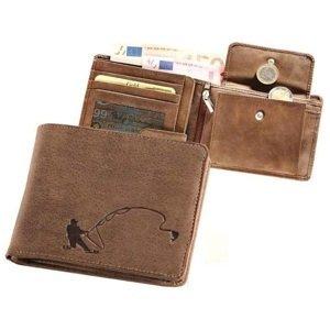 Kožená rybářská peněženka 40 - rybář