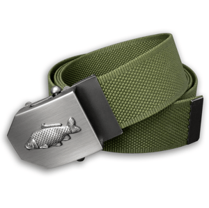 Textilní opasek s kovovou přezkou kapr - khaki