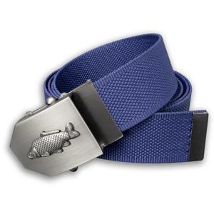 Textilní opasek s kovovou přezkou kapr - modrý