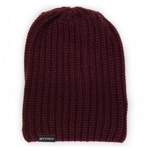 Sticky baits zimní čepice maroon knitted beanie