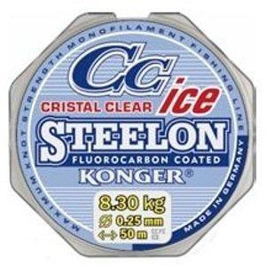 Konger vlasec steelon cristal clear fluorocarbon ice 0,22 mm 50 m
