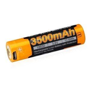Fenix dobíjecí usb baterie 18650 3500mah
