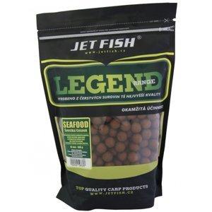 Jet fish  boilie legend range seafood + švestka / česnek-1 kg 30 mm