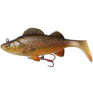 Dam gumová nástraha effzett natural perch paddle tail brown trout - 14 cm 47 g