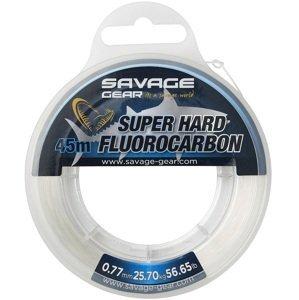 Savage gear fluorocarbon super hard clear - 45 m 0,77 mm 25,7 kg