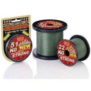 Wft šňůra kg strong zelená 2000 m - 0,12 mm 15 kg
