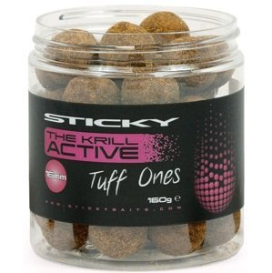 Sticky baits extra tvrdé boilies the krill active tuff ones 160 g - 20 mm