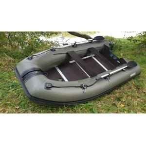 Sportex člun nutria zelený 330 pevná dřevěná podlaha + fasten