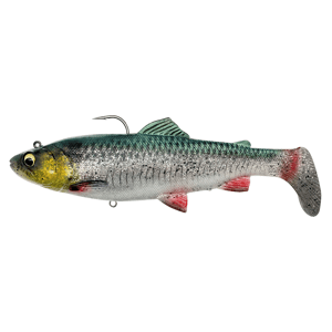 Savage gear gumová nástraha 4d rattle shad trout sinking green silver - 17 cm 80 g
