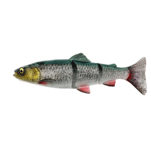 Savage gear gumová nástraha 4d linethru trout slow sinking green silver - 15 cm 35 g